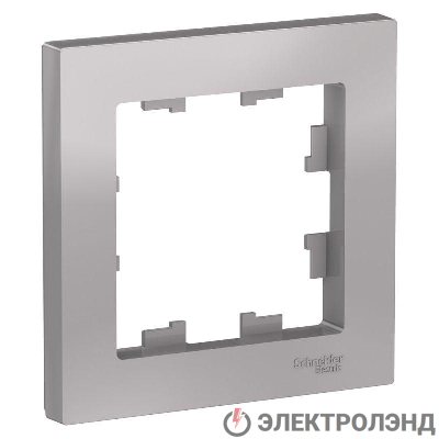 Рамка 1-м ATLAS DESIGN алюм. SchE ATN000301