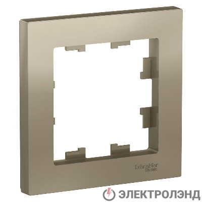 Рамка 1-м ATLAS DESIGN шампань SchE ATN000501