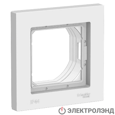Рамка 1-м ATLAS DESIGN AQUA IP44 бел. SchE ATN440101
